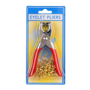 Leather Hole Punch Plier And Brass Eyelets Kit For Shoes Belts Bags Leather