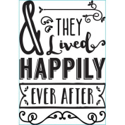 Darice® Iron-On Transfer - Happily Ever After - Black - 17cm x 25cm