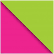 Jillson Roberts Double Sided Kraft Magenta and Lime Gift Wrap Roll, 1.5m x 80cm