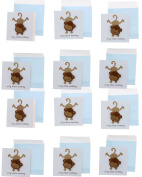 Paper Craft Silly Monkey Mini Enclosure Cards - 2 Pack - 12 Cards