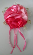 Pink Ribbon Rose Corsage