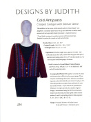 Cold Antipasto - Cropped Cardigan with Dolman Sleeve - Designs by Judith Knitting Pattern J24