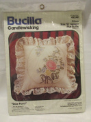 Bucilla Candlewicking Heart Pillow Rose Floral