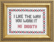 "Subversive Cross Stitch ""No Diggity"" Deluxe Kit"
