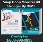Dime Snap Hoop Monster 5 x 7 Ellageo Plus ESG, ESG2, ESG3, ULT 2001, 2002, 2003