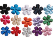 YYCRAFT Pack Of 150 Padded 5.1cm Satin Flower-15 Colours