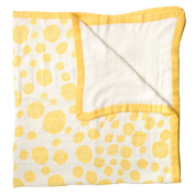 Little Unicorn Deluxe Muslin Quilt Blanket - Yellow Burst