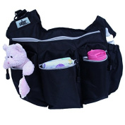 Luliey™ Baby Nappy Bag Messenger Bag + Nappy Changing Mat, Multi-purpose; Good As an Hiking Bag & Travelling Carry on Bag Too, #1 Top Quality.