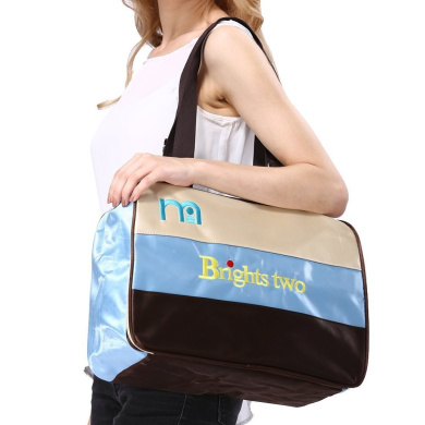 Brights two Large Rear Pocket Baby Nappy Changing Bag, Mommy Tote Bay