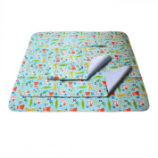 E'Plaza 3pcs Waterproof Flannel Bamboo Fibre Double Sided Baby Bassinet Crib Stroller Mattress Pad Travel Changing Mat Adult Underpad, L(70cm *80cm ) M(50cm *70cm ) S(30cm *44cm )