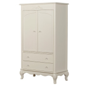 Evolur Aurora Armoire, Ivory Lace