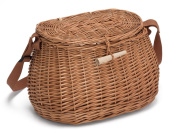 Wicker Fishing Creel with Shoulder Strap