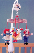 Classic Raggedy Ann and Andy Baby Nursery Crib Musical Mobile- Brahms' Lullaby