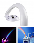 R & H Co.,LTD,Arch Shape Romantic LED Rainbow Lamp Wall Ceiling Project Night Light Room Hallway Lobby Decoration Sleep Light Auto Off Function Colourful Gift for Children Magic Toys