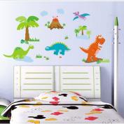 B & Y Decorative Peel Vinyl Wall Sticker Kids Baby Rooms Nursery Removable Decals - Dinosaur Family