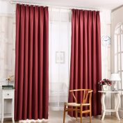 Oshide Solid Colour Window Curtains/drape/panels/treatment,WineRed/Green/Blue/Yellow/Pink/Coffee