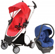 Quinny Zapp Xtra Mico AP Travel System, Rebel Red - Blue Base