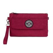 TianHengYi Womens Multi-purpose Nylon Wristlet Handbag Clutch Purse Cellphone Bag with Shoulder Strap