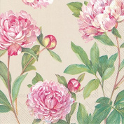 Boston International 40 County 3-Ply Paper Lunch Napkins, Paeonia Linen