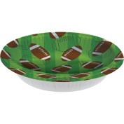 Club Pack of 96 Football Disposable Paper Party Banquet Dinner Bowls 590ml