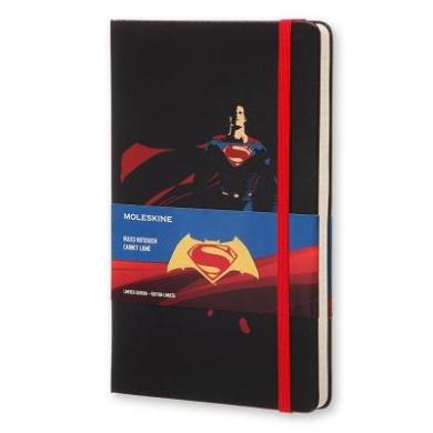 Moleskine Batman Vs Superman Limited Edition Notebook, Large, Ruled, Black, Superman, Hard Cover (5 X 8.25)