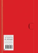 Red standard plain & simple 18 month planner 2017