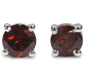 1.20ctw, 5mm Round Genuine Gemstones & Solid .925 Sterling Silver Stud Earrings