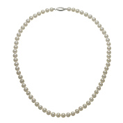 """ELEGANT """"AAA"""" QUALITY FRESHWATER CULTURED PEARL STRAND NECKLACE 5.5-6MM WITH 14KWG CLASP, 18"""""""