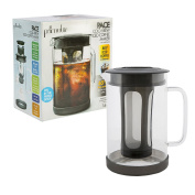 Primula Pace Cold Brew Coffee Maker - Drip Proof Lid and Filter Core - Makes 65% Less Acidic Coffee Than Heat Brewed Coffee - 100% BPA, PVC, Phthalate, and Lead Free - 1510mls - Black