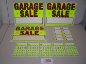 GARAGE SALE SIGNS & PRE - PRICED LABEL KIT / Free Ship!