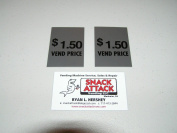 "SODA VENDING MACHINE (2) Decals ""$1.50 VEND PRICE."" / Free Ship!"