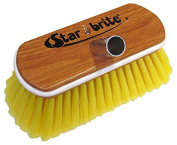 Star brite Premium Synthetic Soft Wood Block Brush with Bumper, 20cm , Yellow