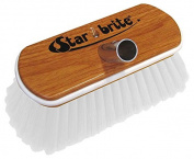 Star brite Premium Synthetic Stiff Wood Block Brush with Bumper, 20cm , White