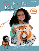 Sew and Stuff Kit. Felt Fox Pillow Ideal Kids Craft Kit Includes all Supplies. Fun Activity. Ages 5-12. All Inclusive Arts and Crafts, Woodland Animal Fox w/ Vibrant Colours Ideal Rainy Day Activity