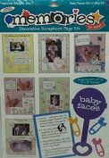 Memories Decorative Scrapbook Page Kit- Baby Faces Girl or Boy Kit- Great for 22cm x 28cm and 30cm x 30cm format!