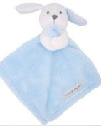Blankets and Beyond Blue & White Bunny Baby Security Blanket Plush