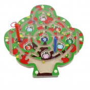 Dongcrystal Magnetic Wooden Maze Puzzle Eduactional Toys-Apple Tree Maze