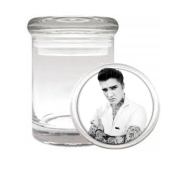 Elvis Tattooed Medical Odourless Glass Jar