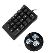 Jelly Comb Mechanical Numeric Keypad USB Braid cable Numpad 22-key Number Pad - Black