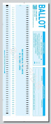 Scantron® 100-B ballots, Compatible 100 candidates (100 Pack), Authentic PRECISION DATA PRODUCTS FORMS