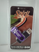 Tribeca Gear Spirit Collection Northwestern University Swivel USB Flash Drive 8 GB USB 2.0 For Mac and PC