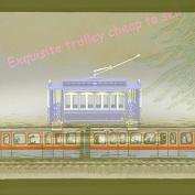 THE TOYS 1/87 ATLAS TRAMVIA BLAU 5-10(ESTRADA/TMB)-1903 the tram model