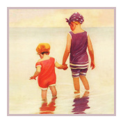Child Feet Wet Beach By Jessie Willcox Smith Counted Cross Stitch Pattern