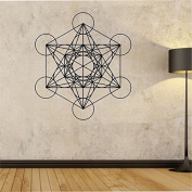 Metatrons Cube Wall Decal Vinyl Home Decor Wall Decor Sacred Geomery Geometric