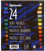 Alphacolor Soft Pastel Sets (Basic Assorted Colours) - Set Of 24 - Product Description - Alphacolor Soft Pastel Sets- Colour