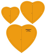 Heart Shape Quilting Patchwork Shape Scale Template Set of 3 Pcs