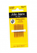 John James Embroidery Needles Size 9
