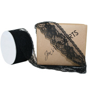 Jons Imports 5.1cm x 25YD Bella Lace Wedding Décor Scrap Book Ribbon Black