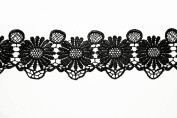 Altotux 7cm Black Flower Guipure Venice Lace Trim Sewing Notions By Yardage