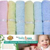 Baby Washcloths   6 Extra Soft Large Organic Bamboo Baby Shower Ideas